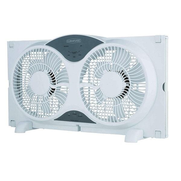 """Climature 9"""" Twin Window Fan with Remote Control"""