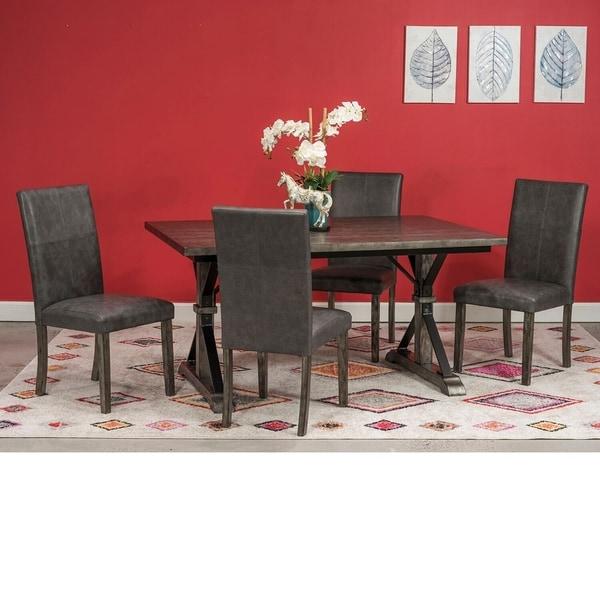 Radium Grey Wood and Metal 5-piece Dining Set