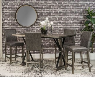 Arling Grey Wood and Metal Counter-height Dining Set