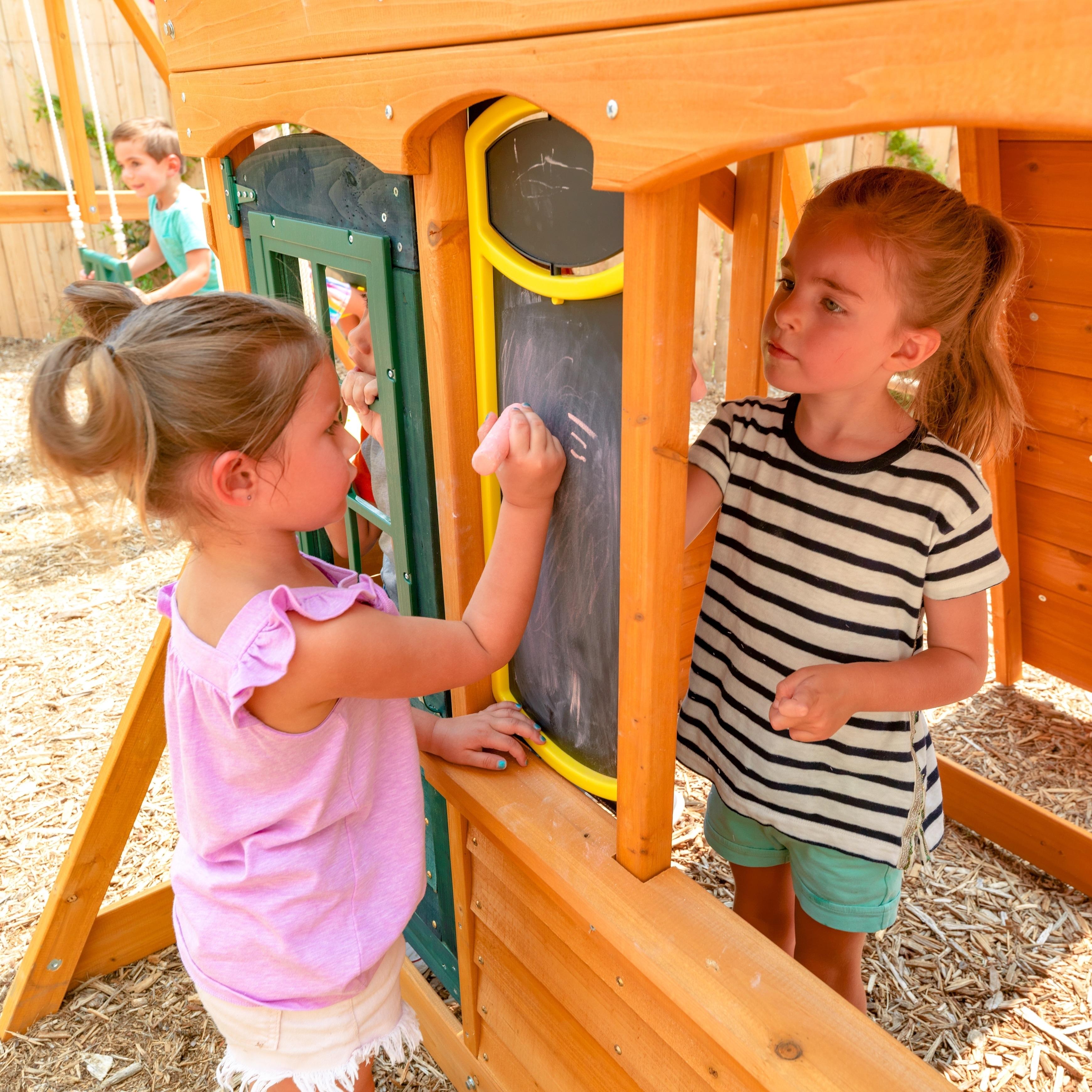 Kidkraft Ashberry Wooden Swing Set Playset Overstock 28546036
