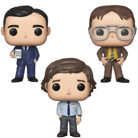 Funko POP! TV The Office Collectors Set 1 - Michael Scott, Dwight Schrutte, Jim Halpert (Possible Limited Chase Edition)