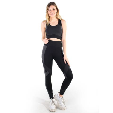 Women's Seamless Active Set Sports Bra and Leggings