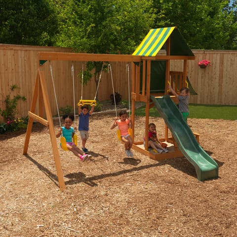 KidKraft Spring Meadow Wooden Swing Set / Playset