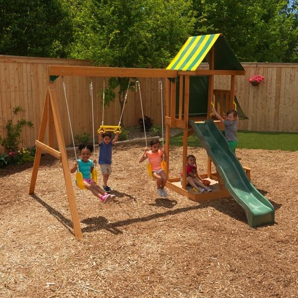 Shop KidKraft Spring Meadow Wooden Swing Set / Playset ...
