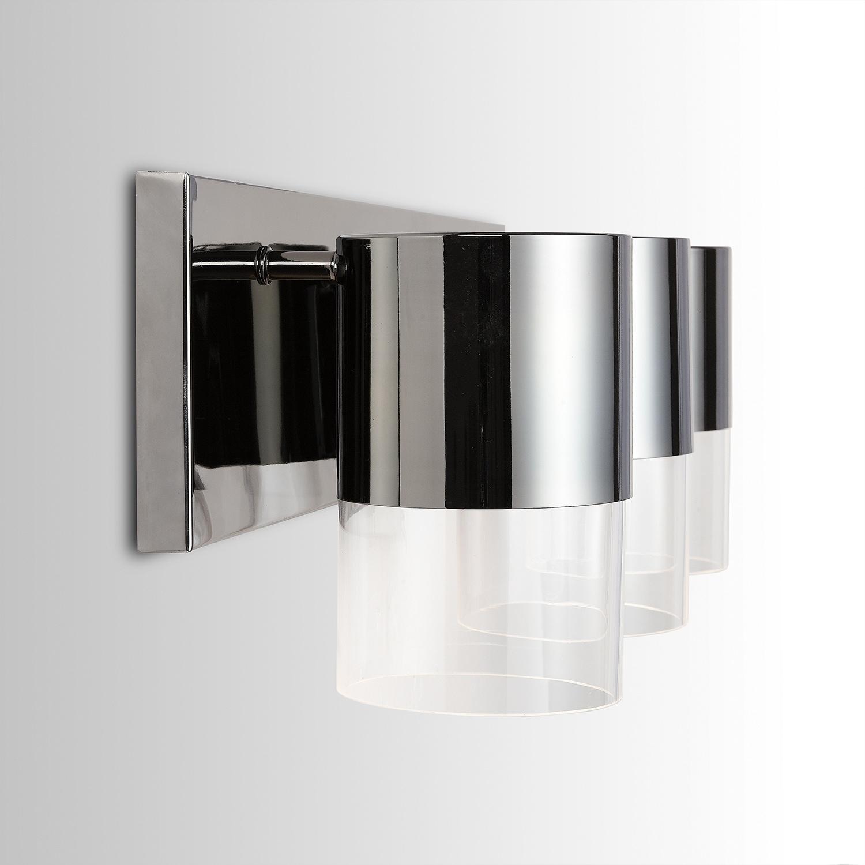 Logan 3 Light Black Chrome Led Bath Vanity Fixture Overstock 28546224