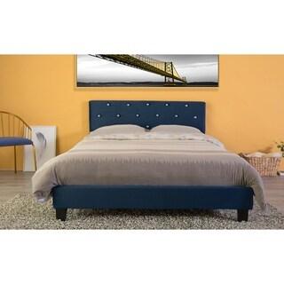 Velvet Tufted Platform Bed Frame Queen Size