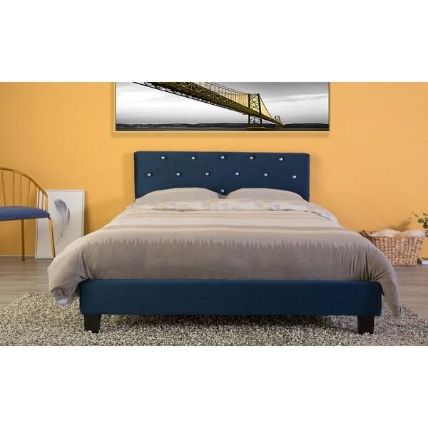 Velvet Tufted Platform Bed Frame Queen Size. Opens flyout.