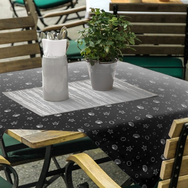 Seashell Pattern Square Tablecloth - 58 x 58