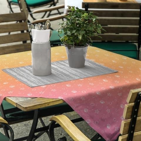 Seashell Pattern Square Tablecloth