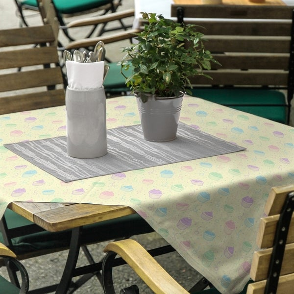 Classic Cupcake Pattern Square Tablecloth - 58 x 58