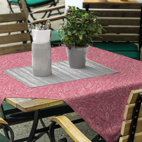 Classic Ditsy Floral Pattern Square Tablecloth