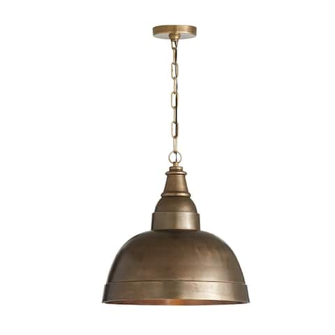 1-light Oxidized Brass Pendant