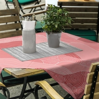 Classic Hand Drawn Waves Square Tablecloth - 58 x 58
