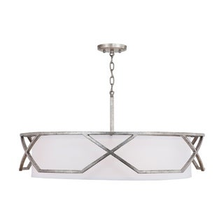 Link to Bryce 4-light Antique Silver Pendant Similar Items in Pendant Lights