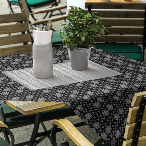 Classic Lattice Square Tablecloth