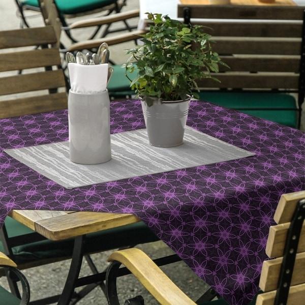 Classic Ornate Circles Square Tablecloth - 58 x 58