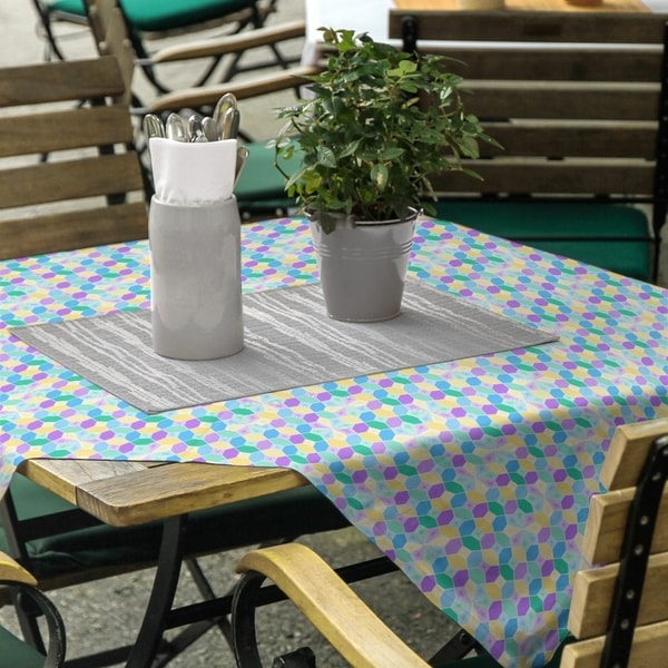 Stained Glass Pattern Square Tablecloth - 58 x 58