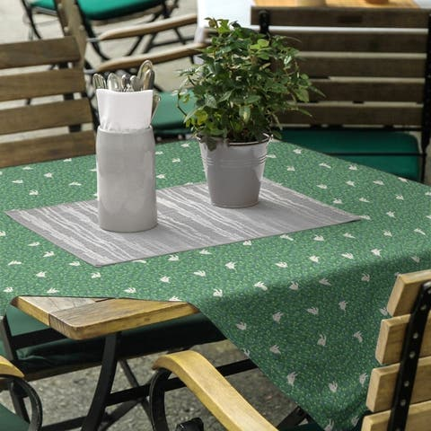 Bunny Rabbit Pattern Square Tablecloth