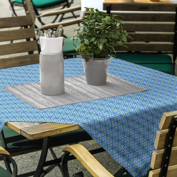 Two Color Lined Diamonds Square Tablecloth - 58 x 58