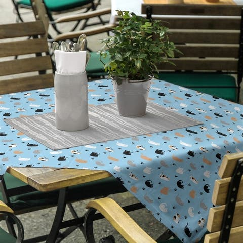 Cat Pattern Square Tablecloth