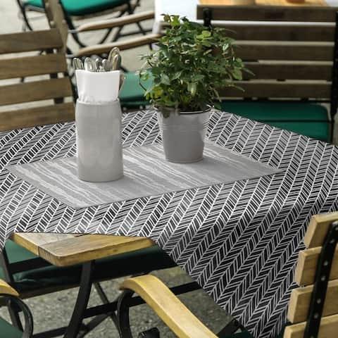 Herringbone Pattern Square Tablecloth