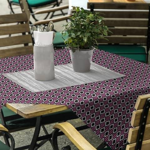 Classic Geometric Diamonds Square Tablecloth