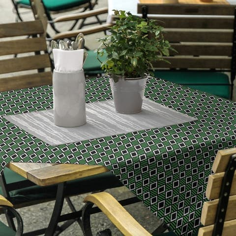 Classic Geometric Diamonds Square Tablecloth