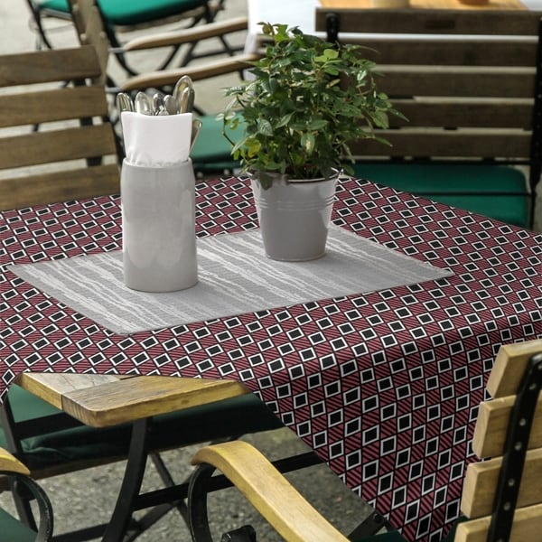 Classic Geometric Diamonds Square Tablecloth. Opens flyout.