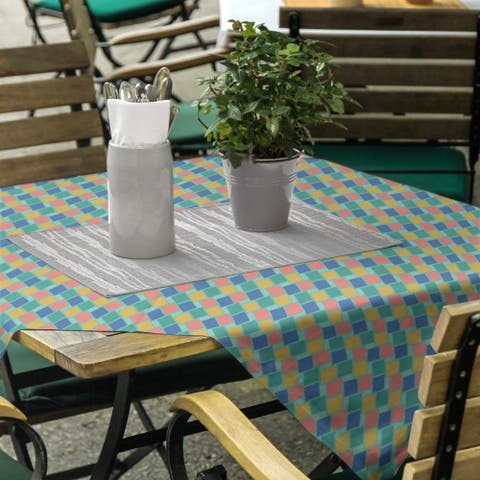 Retro Diamonds Square Tablecloth