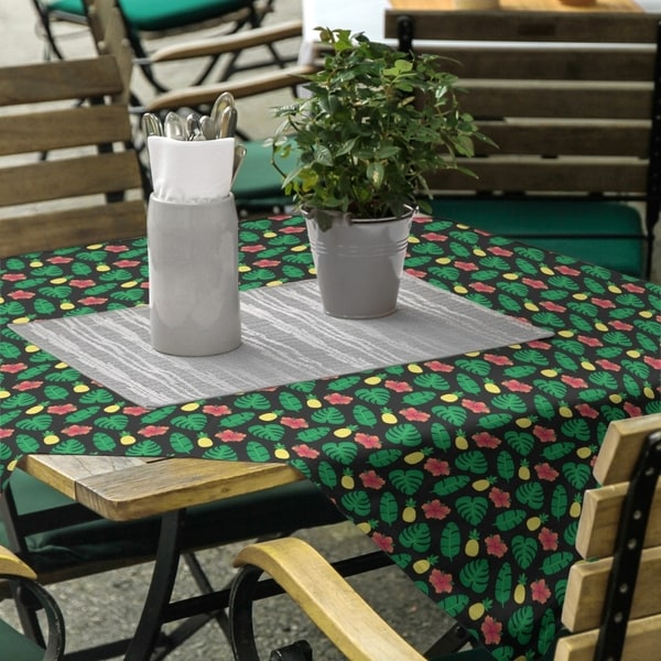 Tropical Pattern Square Tablecloth - 58 x 58