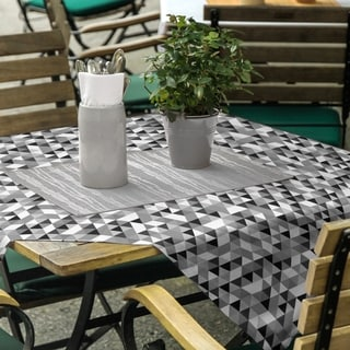 Triangle Pattern Square Tablecloth - 58 x 58