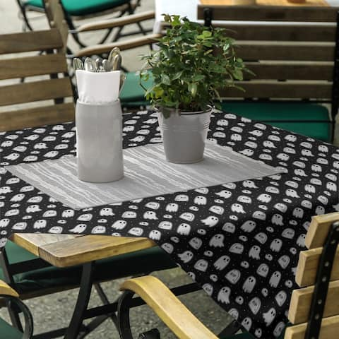 Classic Ghosts Pattern Square Tablecloth - 58 x 58