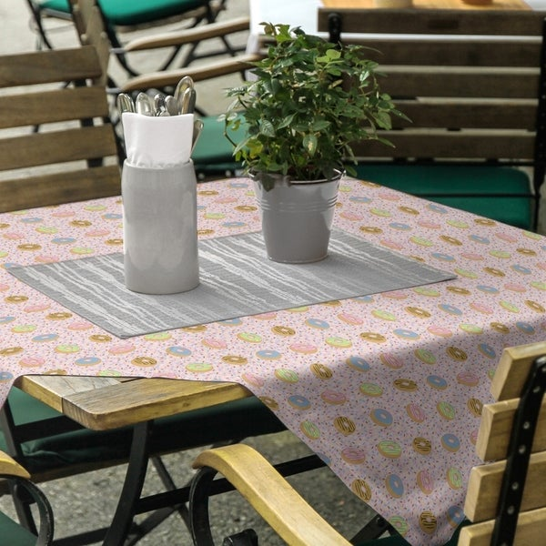 Donuts Pattern Square Tablecloth - 58 x 58