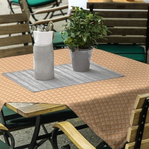 Classic Geometric Ombre Pattern Square Tablecloth