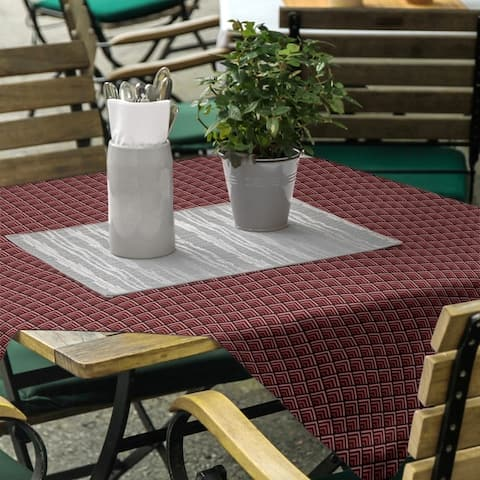 Reverse Geometric Ombre Pattern Square Tablecloth