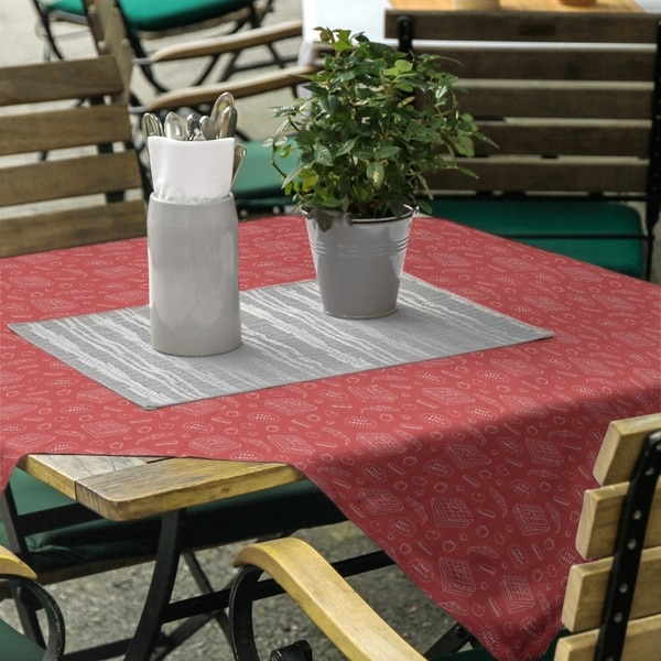 Color Background Pizza Pattern Square Tablecloth. Opens flyout.