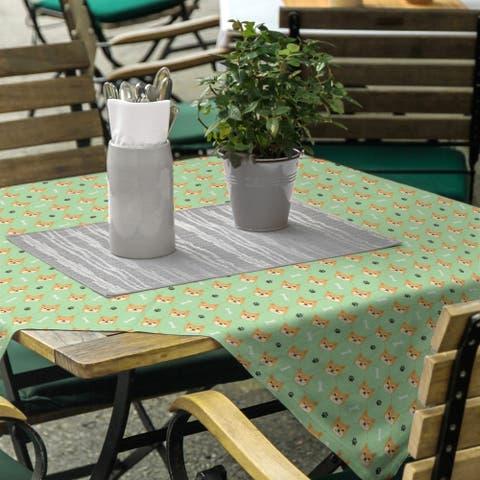 Shiba Inu Pattern Square Tablecloth