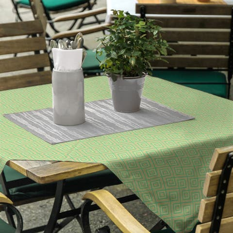 Square Lattice Square Tablecloth