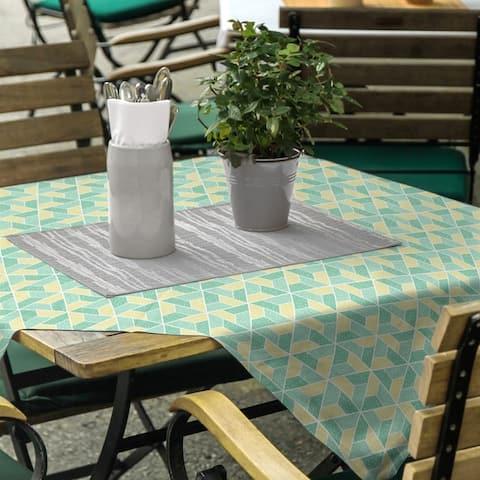 Two Color Trapezoids Square Tablecloth