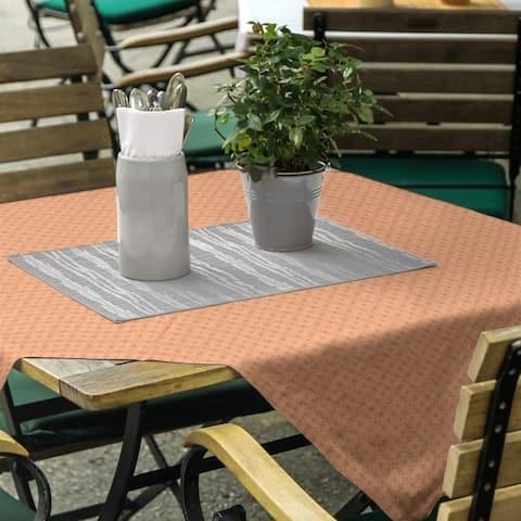 Monochrome Doily Pattern Square Tablecloth