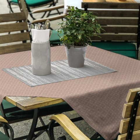 Two Color Doily Pattern Square Tablecloth