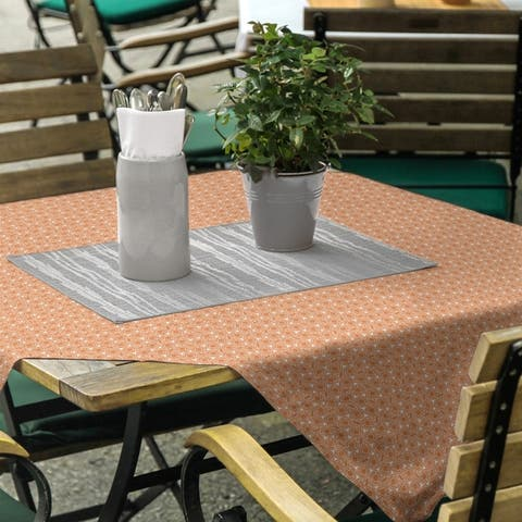 Classic Hexagonal Lattice Square Tablecloth