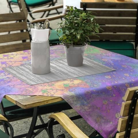 Multicolor Planets & Stars Square Tablecloth
