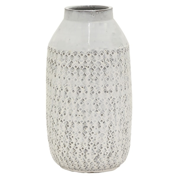 "17 "" Ceramic Vase in White"