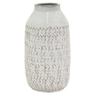 """17 """" Ceramic Vase in White"""