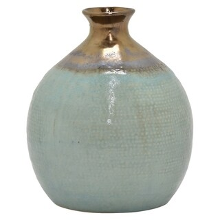 "12 "" Ceramic Vase in Green"