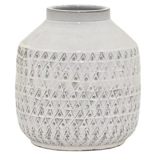 """9.75 """" Ceramic Vase in White"""