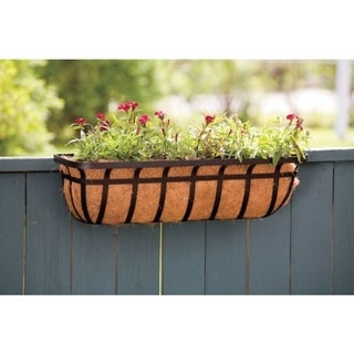 Link to Living Accents  Black  Steel  Deck Planter Similar Items in Gardening