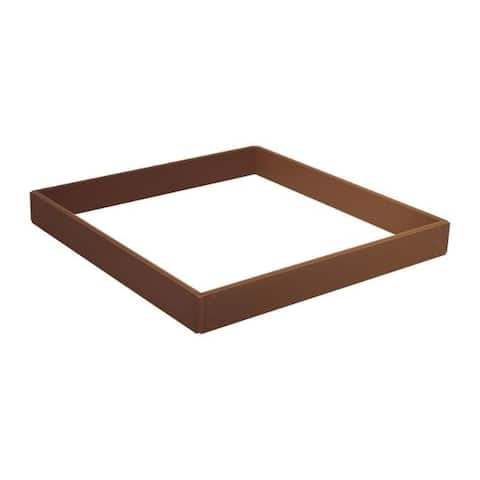 Suncast 5.5 in. H x 46 in. W Brown Resin Elevated Garden Bed Kit
