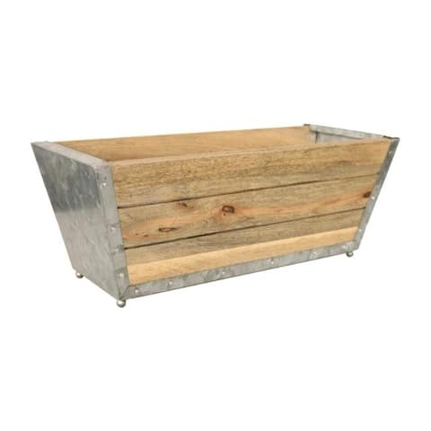 Robert Allen 7 in. H x 18 in. W Natural Wood Window Planter